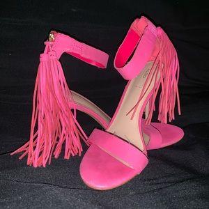 ALDO hot pink 6.5 women's heels tassel pumps